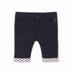 Petit Bateau Baby Girl Padded Pants in Navy - - <B> Last One - Size 24m</b>