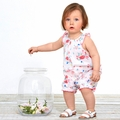 Petit Bateau Baby Girl Rose Printed Bubble - <B>Sold Out</b>