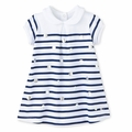 Petit Bateau Baby Girl Sailor Stripe Dress with Dots - last one size 24M!