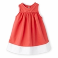 Petit Bateau Baby Girl Two Tone Sleeveless Dress in Hot Pink - <b>Sold Out</B>