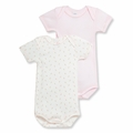 Petit Bateau Baby Girls Dainty Florals 2 Pack Short Sleeve Bodysuits - <b>Size 24M left</B>
