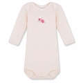 Petit Bateau Baby Girls Warmer Bodysuit with Bird - <B>Last One Size 3m left</B>