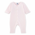 Petit Bateau Baby Knitted Romper in Pink