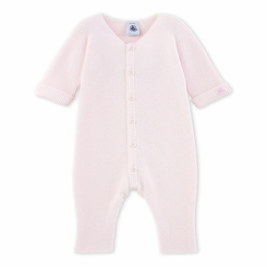 Petit Bateau Baby Knitted Romper in Pink - <B>Last One Size 3M</B>
