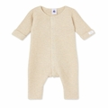 Petit Bateau Baby Knitted Romper in Grey