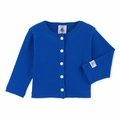 Petit Bateau Baby Rib Cardigan in Blue - Coming soon!