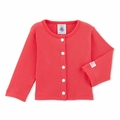 Petit Bateau Baby Rib Cardigan in Pink - Coming soon!