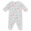 Petit Bateau Bear Print Velour Footie - sold out!