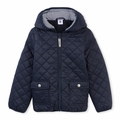 Petit Bateau Big Boy Quilted Nylon Jacket in Navy - <B>Last one size 12Y</B>