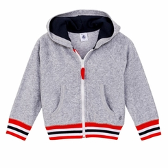 Petit Bateau Big Boy Terry Hoodie -  <B>Last one 12Y left</B>
