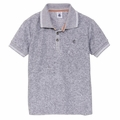Petit Bateau Big Boy Terry Polo in Grey - <B>Last one 4Y left</B>