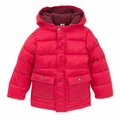 Petit Bateau Child Padded Winter Jacket in Red