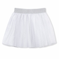 Petit Bateau Big Girl Glittery Silver Skirt - <B>Last One Size 12Y</B>