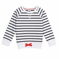 Petit Bateau Big Girl Navy Sailor Striped Sweatshirt - <B>Sold Out</B>