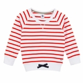 Petit Bateau Big Girl Red Sailor Striped Sweatshirt - <B>Last one size 10 left</B>