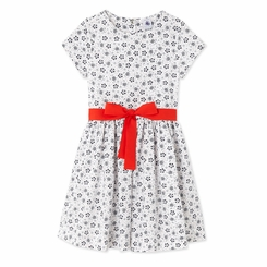 Petit Bateau Big Girl White Floral Dress - <B>Sold Out</B>