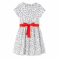 Petit Bateau Big Girl White Floral Dress
