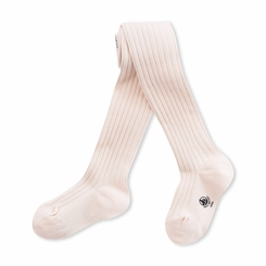 Petit Bateau Deeply Ribbed Tights in Light Pink