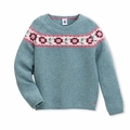 Petit Bateau Big Girls Jacquard Sweater - <B>Last one size 12Y left</B>