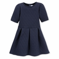 Petit Bateau Big Girls Quilted Dress in Navy - <B>Sold Out</B>
