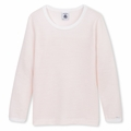 Petit Bateau Big Girls Warmer Pyjama Top in Jolie Pink