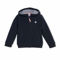 Petit Bateau Boy Hooded Zip Up Sweatshirt in Navy