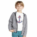 Petit Bateau Boy Zip Up Hooded Sweatshirt in Blue