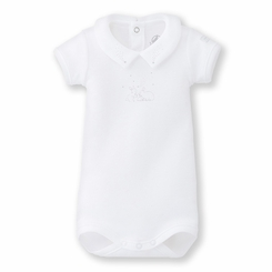 Petit Bateau Bunnies and Shooting Stars Short Sleeve Bodysuit
