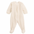 Petit bateau Christmas Velour Footie with Sparkly Gold Motif - <B>sold out</B>