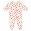 Petit Bateau Dragon Print Velour Footie - <b>Sold Out</B>