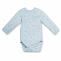 Petit Bateau Feather Print Kimono Onesie in Fraicheur Blue - <b>Sold Out</b>