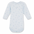 Petit Bateau Feather Print Onesie in Fraicheur Blue - <b>Sold Out</b>