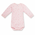 Petit Bateau Feather Print Onesie in Vienne Pink - <b>Sold Out</B>