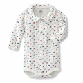 Petit Bateau French Icons Front Snap Bodysuit - last one size 1M!