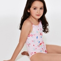 Petit Bateau Girl Rose Printed Swim Suit - <b> Last one size 10Y left</B>