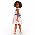 Petit Bateau Girl Short Ruffle Sleeve Rose Printed Dress