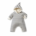 Petit Bateau Iconic Striped Hooded Coverall - <B>Last One - size 12m </B>