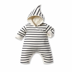 Petit Bateau Iconic Striped Hooded Coverall - <B>Last One - size 12m left</B>