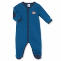 Petit Bateau Medieval Blue Milleraies Stripe Footie - <B>Last One Size 1m left</b>