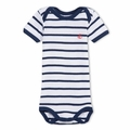 Petit Bateau Navy Stripe Short Sleeve Bodysuit - <b>Sold Out</B>
