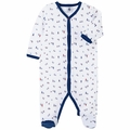 Petit Bateau Patriotic Boat Print Footie - <B>Sold Out</B>
