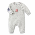 Petit Bateau Quilted Tube Knit Romper in Gray - <B>Sold Out</B>