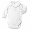 Petit Bateau Regal Neck Side Snap Bodysuit - <B>Sold Out</B>