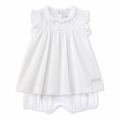 Petit Bateau Short Sleeve Bodysuit Dress in White