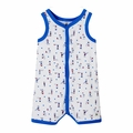 Petit Bateau Sleeveless Seaside Kidsplay Printed Romper