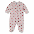 Petit Bateau Star Print Velour Footie - <B>Sold Out</B>