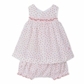 Petit Bateau Tiny Flower Print Dress And Bloomers 2 Piece Set