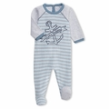 Petit Bateau Tubic Cotton Anchor Footie - <B>Last one size 3M</B>