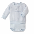 Petit Bateau Tubic Cotton Bodysuit Sweatshirt in Blue