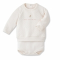 Petit Bateau Tubic Cotton Bodysuit Sweatshirt in Pink - last one size 3m!